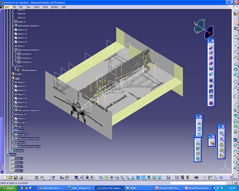 catia section view my catia v5 dassault aviation rafale 3 plan view reverse