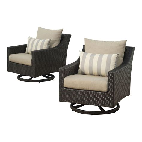 Patio Chairs Motion Rst Brands Deco All Weather Wicker Motion Patio Lounge
