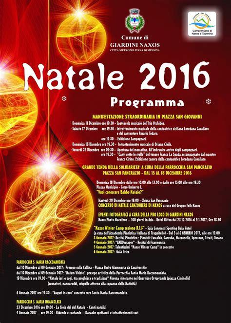 eventi giardini naxos il programma degli eventi natalizi di giardini naxos