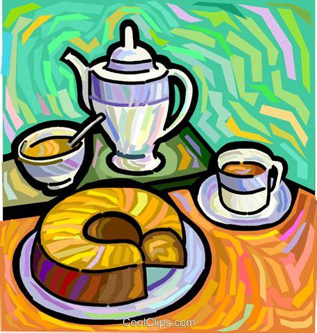clipart kaffee und kuchen kaffee und kaffee kuchen vektor clipart bild vc048296