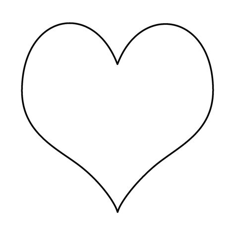 large heart template clipart best