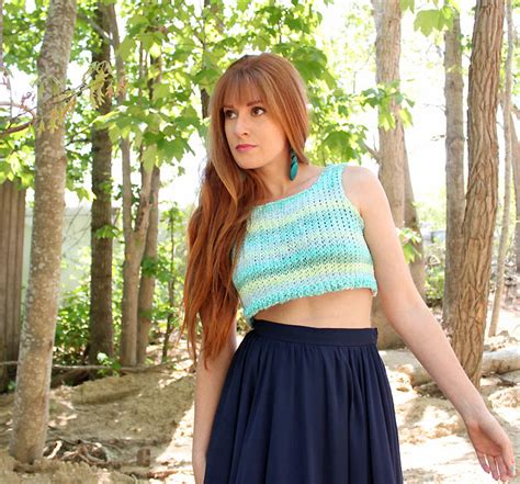 knit crop top pattern crop top knitting pattern michele
