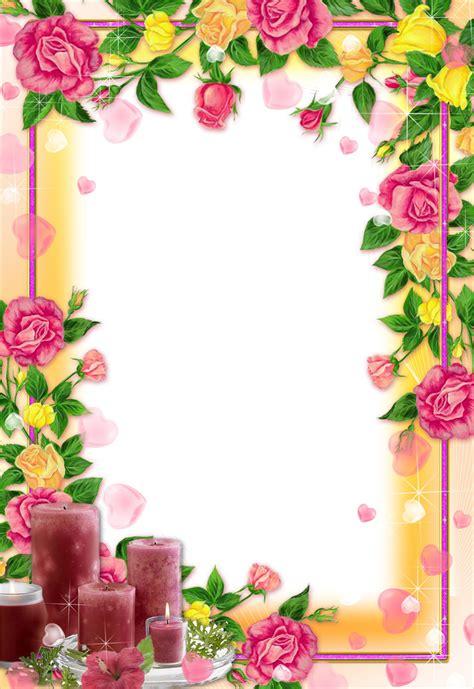 libro a z of flower portraits 花のイラスト フリー素材 フレーム枠no 652 バラ ハート キャンドル