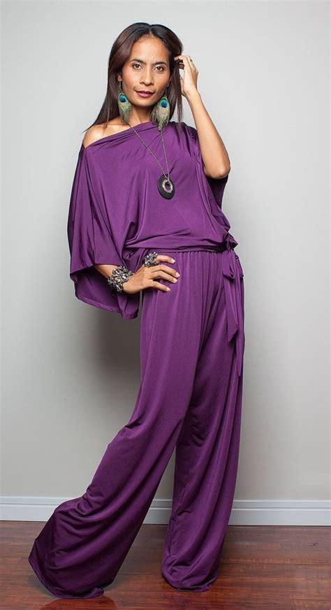 Kaftan Mila Purple jumpsuit dress purple jumper maxi dress chic casual by