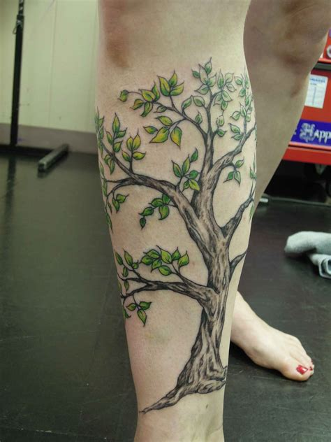 lower leg tattoo tree tattoos on lower leg leg tree design