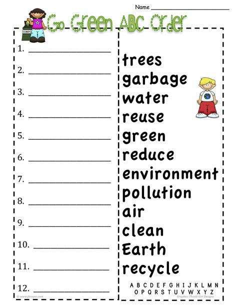 printable abc order games alphabetical order for kindergarten worksheets