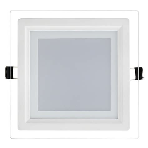 Led 6 Watt Square Dimmable Slim Recessed Glass Panel Square Recessed Ceiling Light