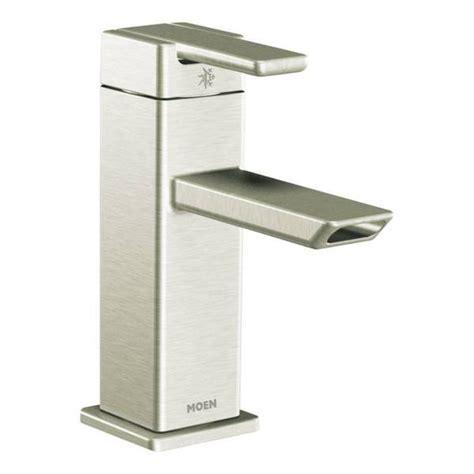 shop moen 90 degree chrome one handle low arc bathroom