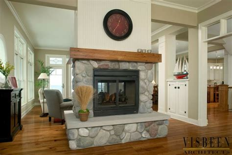 fireplace in middle of room like the hearth around needs