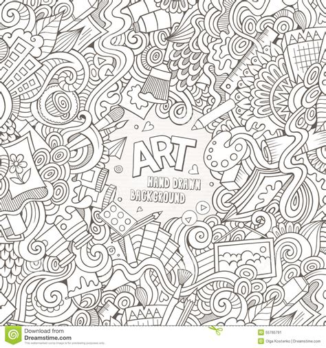 doodle craft vector doodles and craft stock