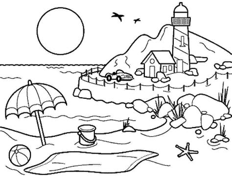 Coloring pages summer season pictures for kids drawing 101 coloring