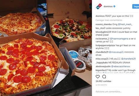 domino pizza instagram domino s pizza inova em suas redes sociais com fotos sem