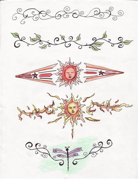 anklet tattoo design ankle designs color by ladydyer2000 on deviantart
