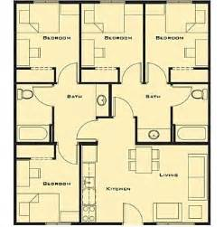 4 Bedroom Cabin Plans Pin By Astolph On Plans Planos Pinterest