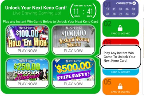 Pch Pick Winning Numbers - enjoy the new pch keno site pch blog