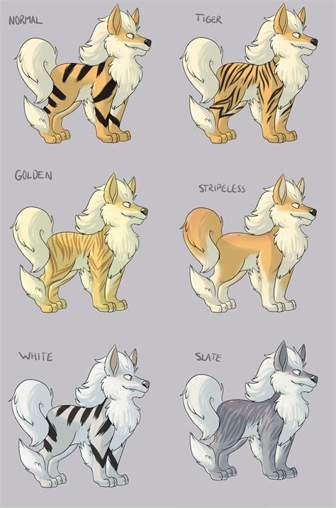 Or Variations Growlithe Coloring Pages Images Images