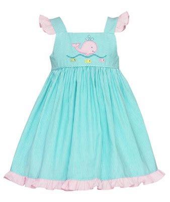 Hem Whale petit bebe baby toddler aqua striped ruffle hem whale dress