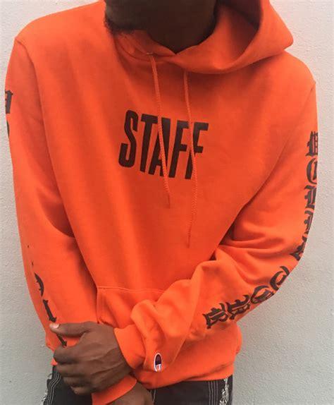 Jaket Hoodie Sweater Purpose Tour Justin Bieber Staff Pria Wanita 1 justin bieber purpose tour staff orange world tour hoodie miami pop up shop
