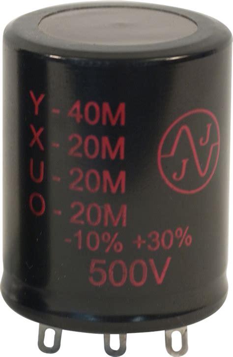jj electrolytic capacitor capacitor jj electronics 500v 40 20 20 20 181 f electrolytic antique electronic supply