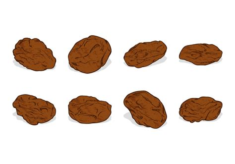Drawing Vectors by Drawing Raisins Vector Free Vector
