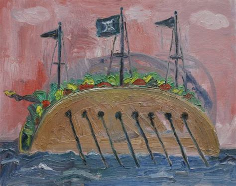 spray paint pirate ship saatchi pirate ship taco painting by kilduff