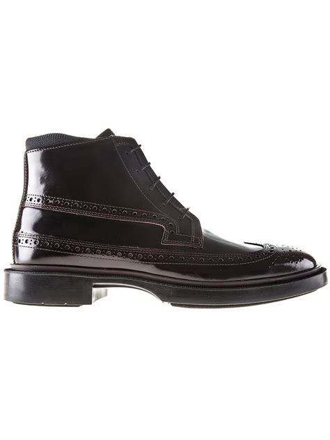 kenzo mens boots kenzo brogue detailed boots in brown for lyst