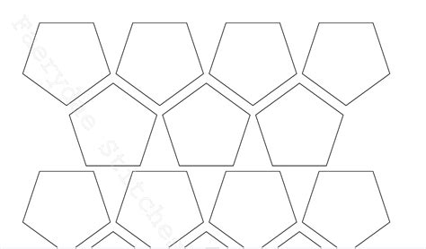 quilting paper templates paper piecing pentagon template by faerydaestitch