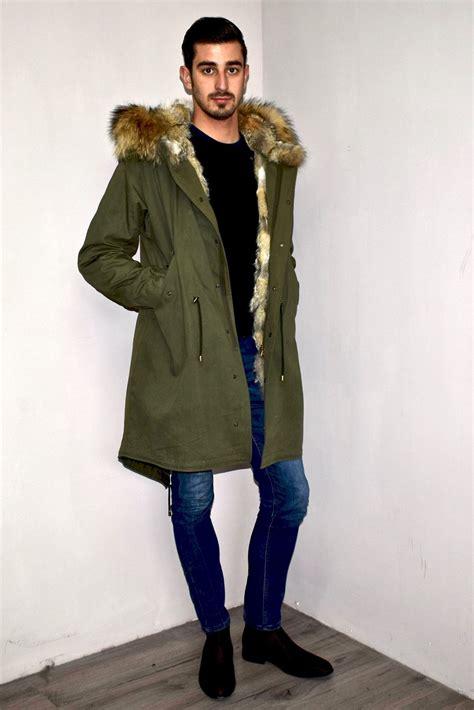 parka con pelliccia interna parka uomo originale con pelliccia cappotti uomo