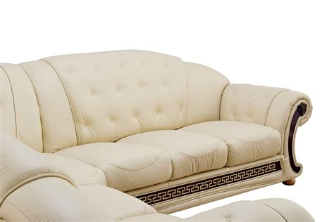 cream leather sectional with chaise versace living room furniture cream italian leather sofa