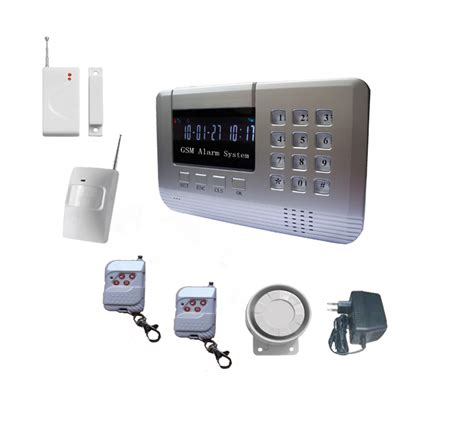 gsm home security alarm system with lcd display gsm home