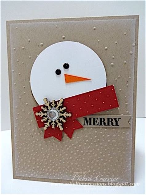 25 best ideas about snowman cards on