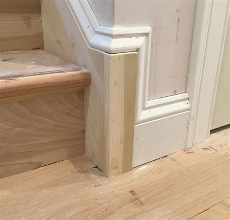 pin   brown woodworking  molding ideas stairs trim
