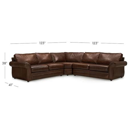Leather L Shape by Pearce Leather 3 L Shape Sectional With Wedge