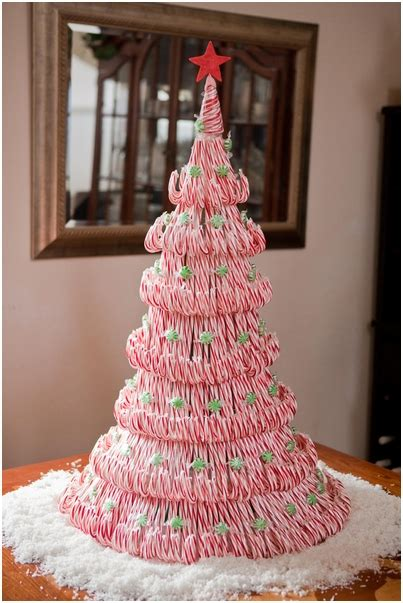 how to make cute candy cane christmas tree step by step