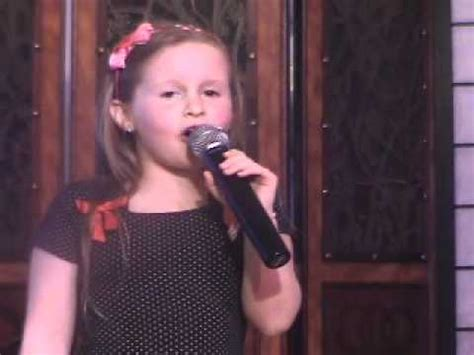 now you re singing with a swing qiana sings quot a quot you re adorable quot cute 7 year old girl