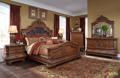 aico bedroom furniture tuscano melange luxury traditional queen bedroom furniture