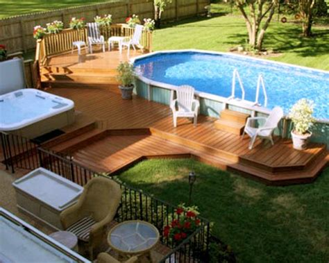 Above Ground Pool Ideas Backyard by Pool Backyard Ideas With Above Ground Pools Craft Room