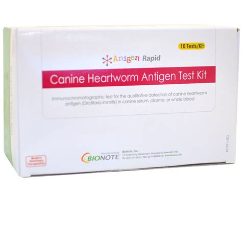 heartworm test for dogs anigen canine heartworm antigen test kit 10 tests entirelypets