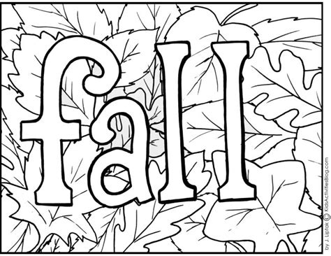 free coloring pages of fall