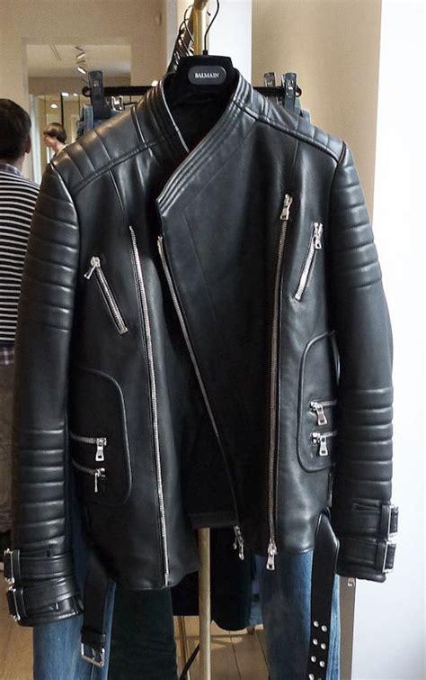 Balmainleather Biker Jacket balmain leather jacket balmain biker jacket black