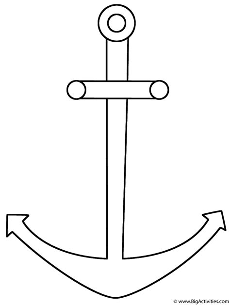 anchor coloring page sea marine