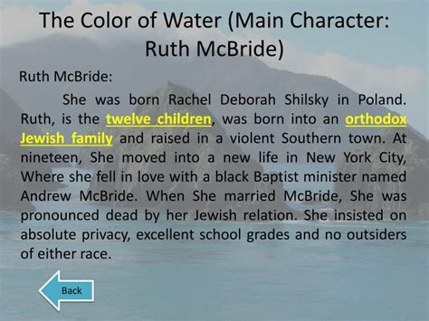 the color of water summary the color of water character descriptions coloring page