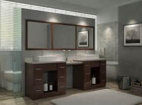 97 quot double sink vanity set in walnut w makeup table ariel bath
