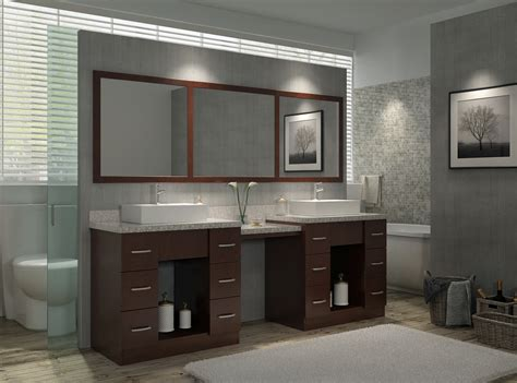 Dimensions Of Kitchen Cabinets by Ariel Roosevelt 97 Quot Double Sink Vanity Set In Walnut W