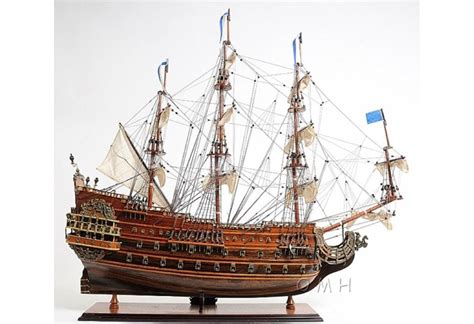 """Scaled Soleil Royal Tall Ship Wooden Model 28"""" French Warship"""