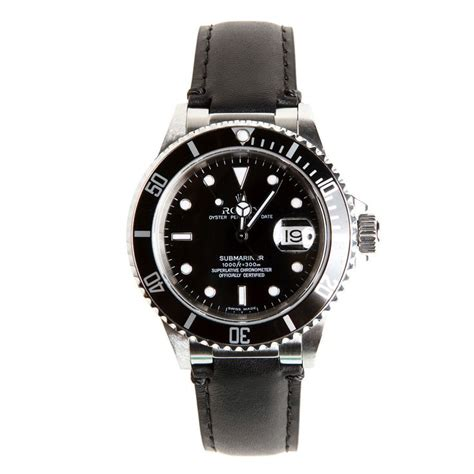 Rolex Leather Date rolex black leather for submariner by everest
