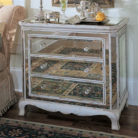 hooker furniture  drawer french mirrored chest