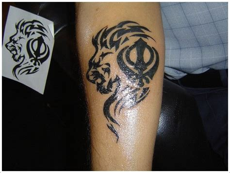 tribal lion tattoo design