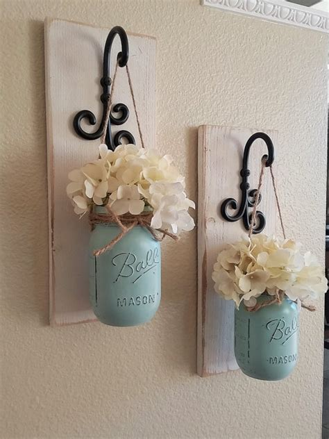 country chic decor jar wall decor country chic wall by countryhomeandheart