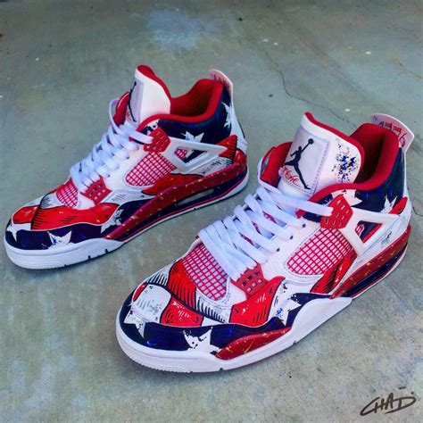 custom shoes for freedom 76 s painted custom retro 4 shoes